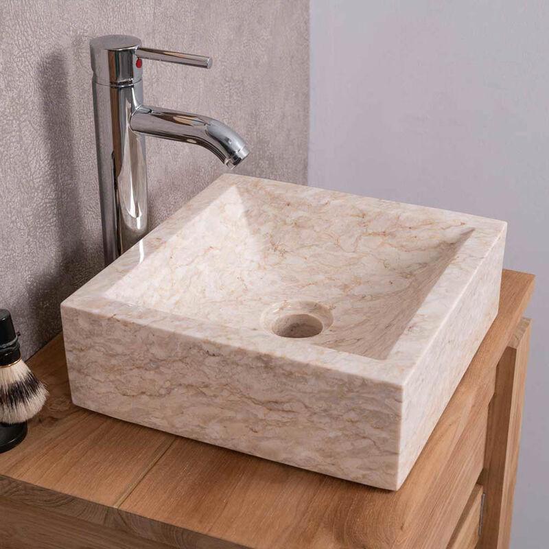 lavabo sobre encimera cuarto de baño ALEJANDRÍA cuadrado ...