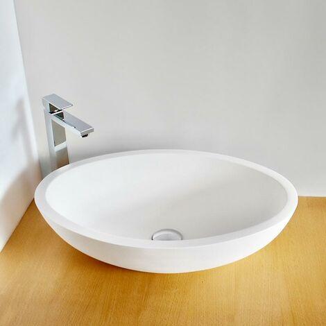Lavabo sobre encimera oval Solid Surface ELLIO