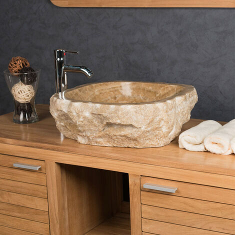 lavabo sobre encimera para cuarto de baño de piedra ónix 40-45 cm