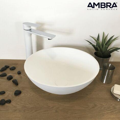 Lavabo sobre encimera redondo de en Solid Surface – Coppa