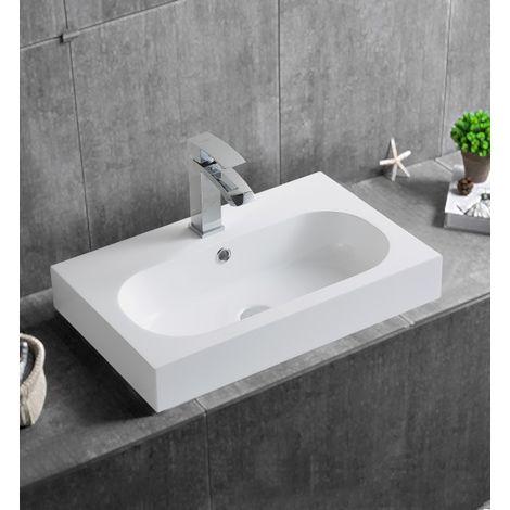 Lavabo sospeso o da appoggio BS6051 - 59 x 37 x 14,5cm