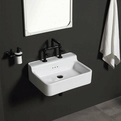 Lavabo style industriel en céramique 60 cm - Industrialis