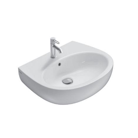 Lavabo suspendido 65x52 cm de ceramica Globo Grace | Blanco brillo