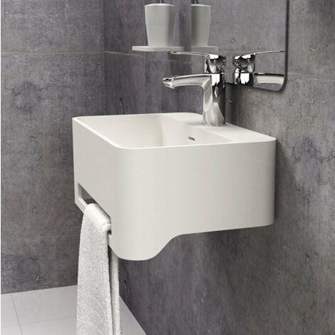 Lavabo suspendido (mural / de pared) con porta toallas Solid Surface CORK