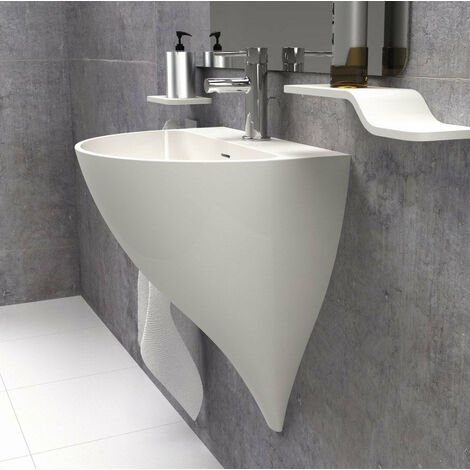 Lavabo suspendido (mural / de pared) Solid Surface KALIYA