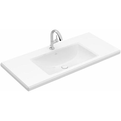Lavabo Villeroy & Boch Antheus 4A09A2 cuadrado, 1000x540mm, sin rebosadero, color: Cerámica Blanca Mate Stone White Ceramicplus - 4A09A2RW