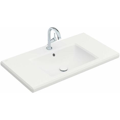 Lavabo Villeroy & Boch Antheus 4A09A5 cuadrado, 1000x540mm, con rebosadero, color: Cerámica Blanca Mate Stone White Ceramicplus - 4A09A5RW