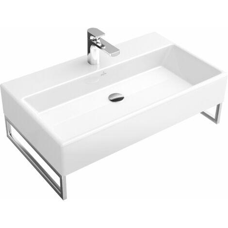Lavabo Villeroy und Boch Lavabo Memento 513381 800x470mm, blanco, sin rebosadero, apto para montaje de 3 agujeros, color: Cerámica Blanca - 513381R1