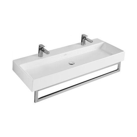 Lavabo Villeroy und Boch Lavabo Memento 5133C2 1200x470mm, blanco, sin rebosadero, adecuado para montaje de 3 agujeros, color: Blanco - 5133C201