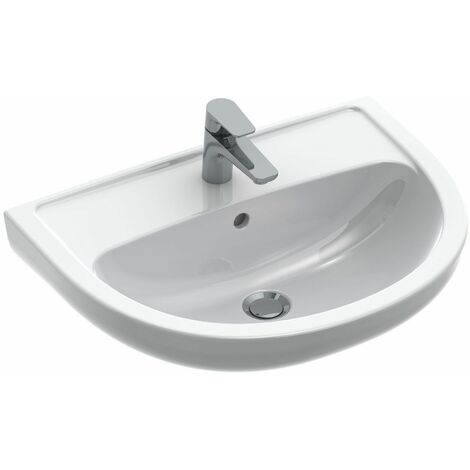 Lavabo VOLTA Plus - Dimensions : 60 x 45.5 x 18.5 cm - Couleur: BLANC