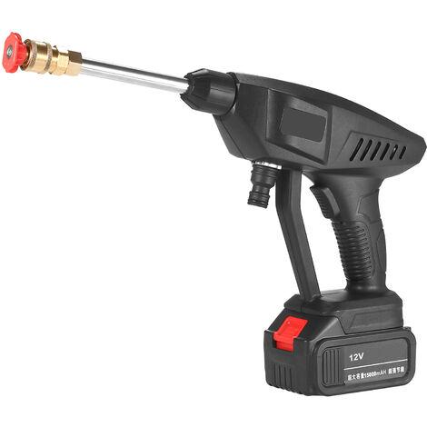 Lavadora de alta presion portatil de 12 V, pistola de lavado inalambrica de 15 A y 30 bar, con generador de espuma