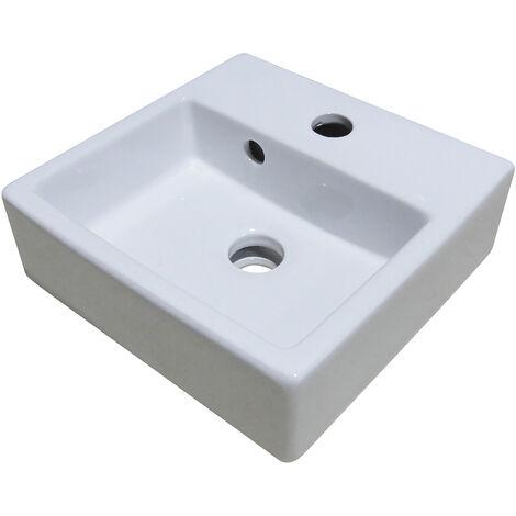 Lavamanos ceramico suspendido FIGARI Dimensiones : 29x29x11 cm - Aqua +