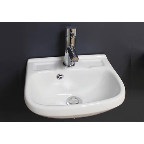 Lavamanos ceramico suspendido LAVANDE Dimensiones : 35,5x29,5x18,5 cm - Aqua +