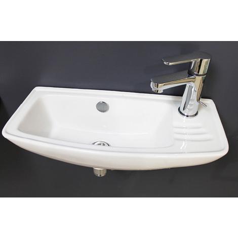 Lavamanos ceramico suspendido MACAO Dimensiones : 50,5x23x16 cm - Aqua +