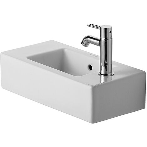 Lavamanos Duravit Vero 50cm, agujero del grifo a la izquierda, color: Blanco - 0703500009