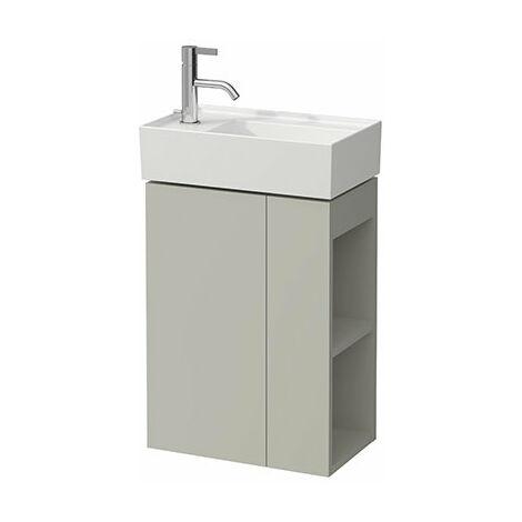 Lavamanos Laufen Kartell, apto para lavabo 815335, 1 puerta, bisagra a la izquierda, 440x600x270, color: gris guijarro - H4075170336411