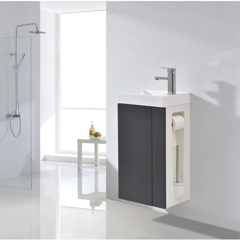 Lavamanos para baño o aseo Compact 400 - antracita