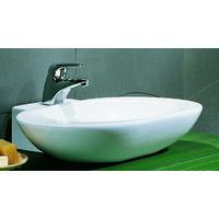 Lavandino da appoggio moderno in ceramica arrotondato per mobile arredo bagno