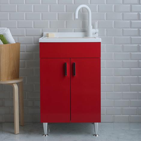 Offerte Lavatoio Per Lavanderia.Lavatoio 50x50 Per Lavanderia Colorato In Rosso Lampone