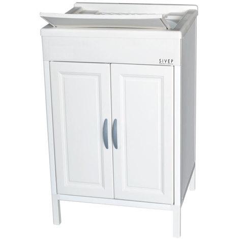 Lavandino Per Esterno In Plastica.Lavatoio Da Esterno Sivep Cm 60x60 Colore Bianco In Resina Per