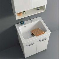 Lavatoio Lavarredo Xilon Nanco cm 60x50 colore Bianco lucido Cod. 2265
