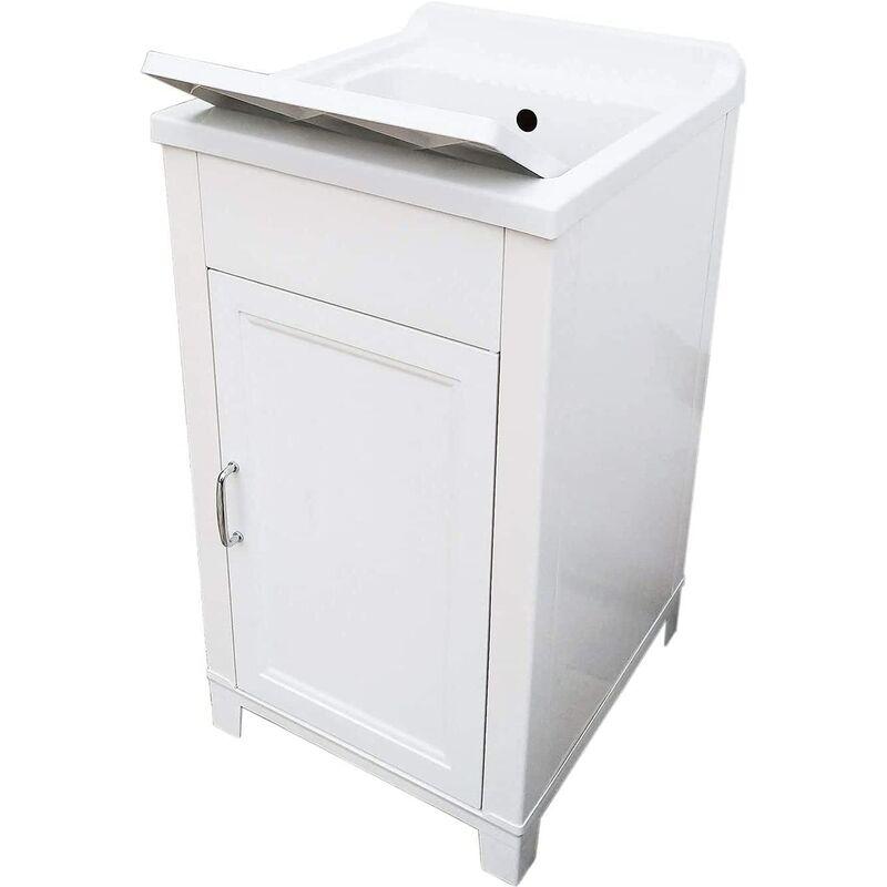 Lavandino Per Esterno In Plastica.Lavatoio Lavello In Resina Con Anta 45x50 Altezza 85 Cm Con Mobile