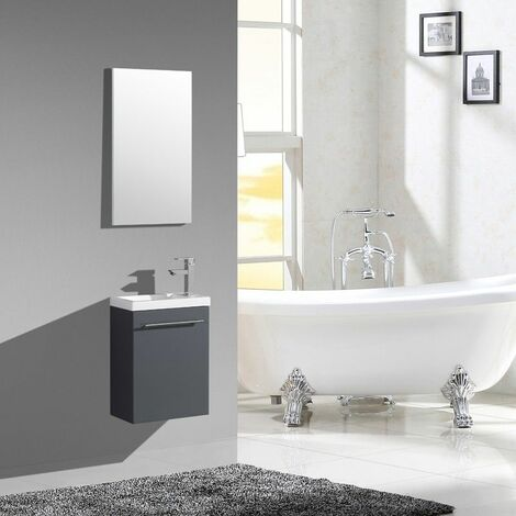 Lave-main AQUAPIXO - 40 cm - blanc gris - JINDOLI