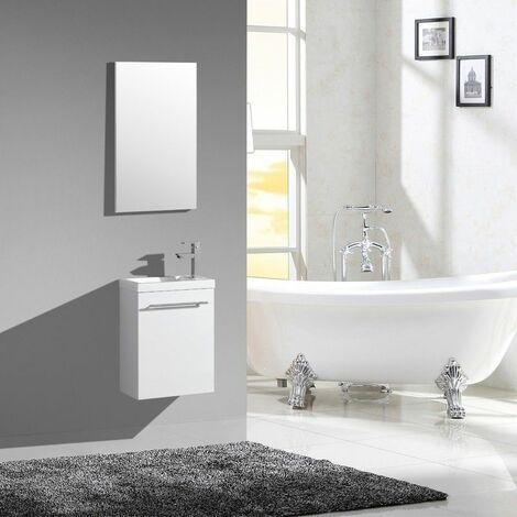 Lave-main AQUAPIXO - 40 cm - blanc laqué - JINDOLI