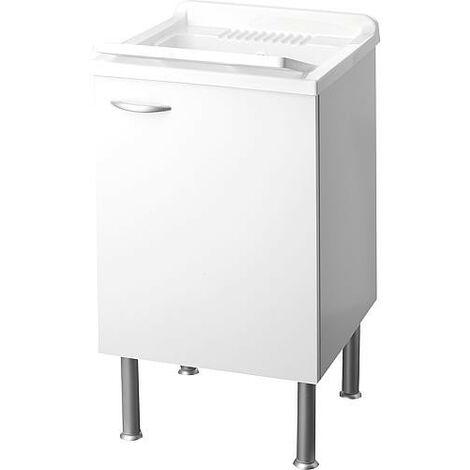 Lave main avec meuble 1 porte LxlxH: 450x500x850mm