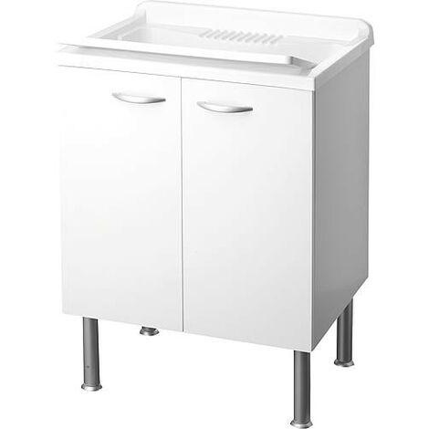 lave main avec meuble 2 portes LxlxH: 600x500x850mm