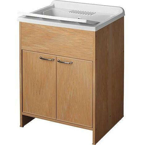 lave main avec meuble avec 2 portes LxlXH: 600x500x850mm