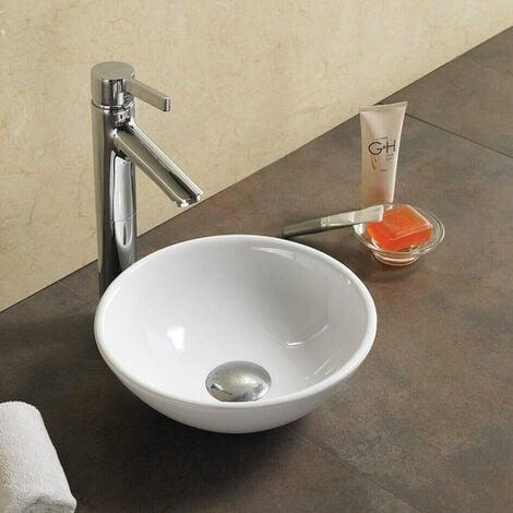 Lave Main Bol - Céramique Blanc - 28 cm - Olys