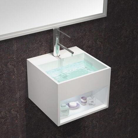 Lave Main Carré - Solid Surface Blanc Mat - 33x33 cm - Enjoy