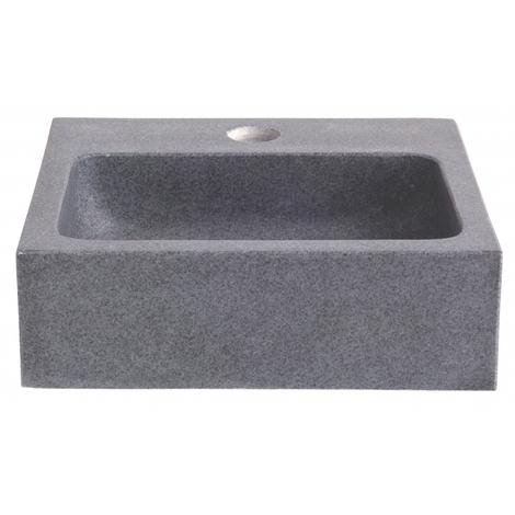 Lave main en pierre de tres grande qualite gris ardoise