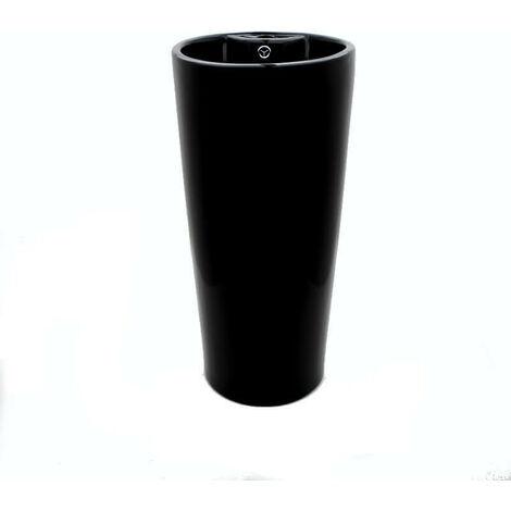 Lave Main Totem Cylindre - Céramique Noir - 39X83 cm - Star