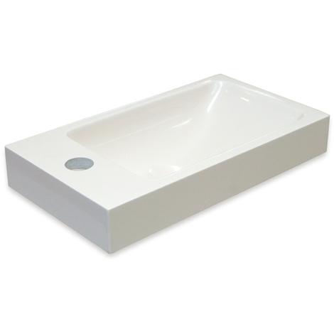 Lave-mains à suspendre ou poser ARES M40 - 40x22 cm
