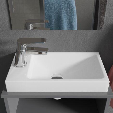 Lave-mains à suspendre ou poser RESIMAIN - 40x22 cm