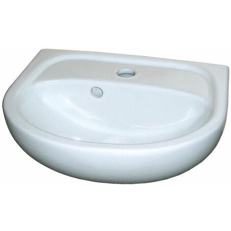 Lave-mains ALTERNA CONCERTO 40 cm, gain de place, blanc 001037