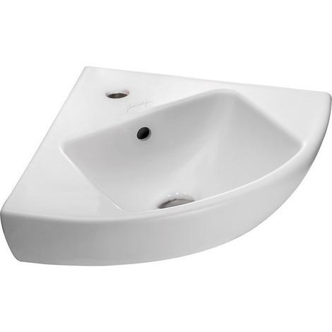 Lave mains angle odeon up 34 x 34 blanc jacob delafon
