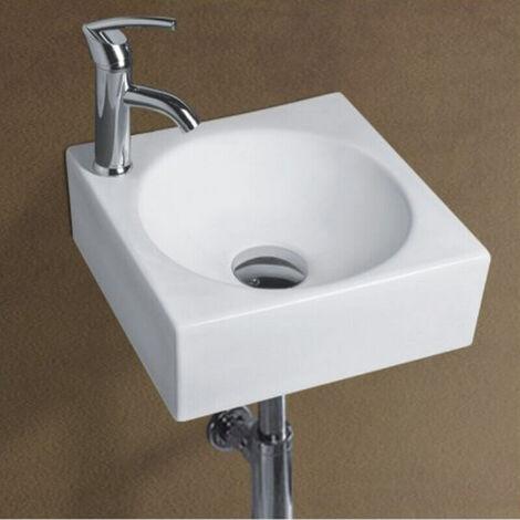 Lave Mains Carré céramique Blanc - 29x29 cm - Like