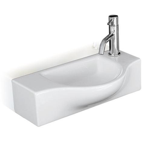 Lave-mains céramique blanc brillant PETA - Cristina Ondyna WPE4409