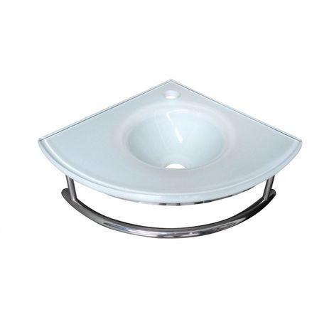 Lave-mains d'angle Blanc - 15 cm x 35 cm (HxL)