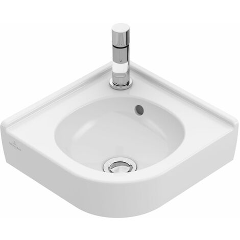 Lave-mains d'angle o.novo largeur 320 mm, pour robinetterie monotrou. villeroy&boch 73103201 Ref. 73103201