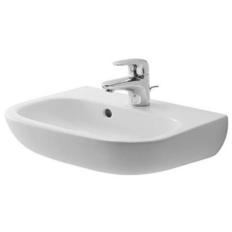 Lave-mains Duravit D-code 450 mm - Blanc - trou de robinetterie prépercé