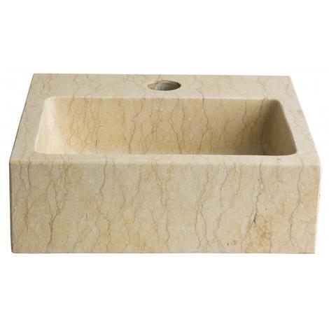 Lave mains en pierre naturelle beige egyptien