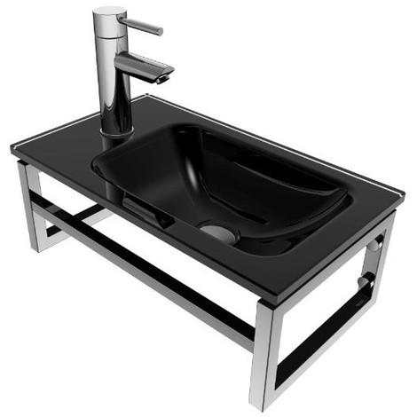 Lave-mains Noir - L'élégant - 17 cm x 45 cm (HxL)