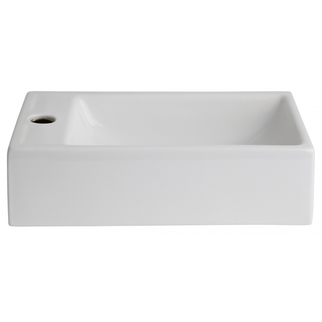 Lave mains rectangle blanc contemporain