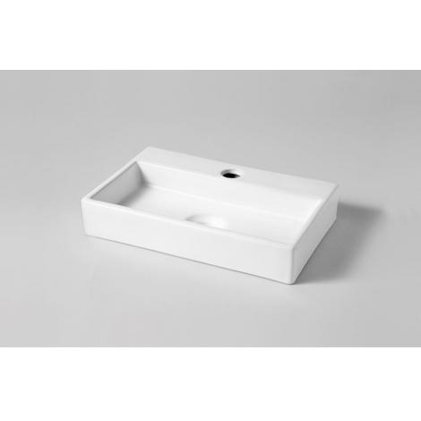 Lave mains rectangle contemporain blanc