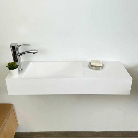 Lave-mains rectangulaire suspendu 80 cm - Mila G