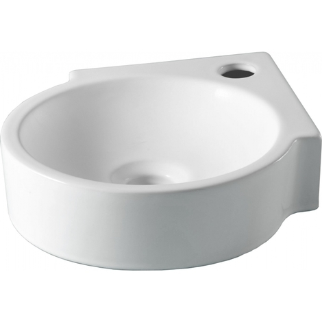 Lave-mains rond d'angle